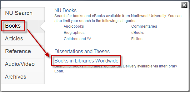 Search Option - Books Worldwide