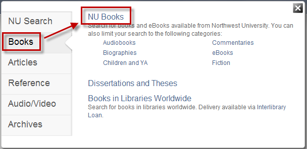 Search Option - NU Books