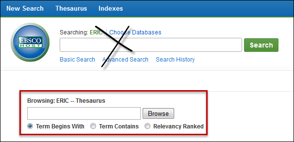 ERIC Thesaurus Search Box